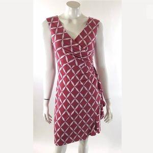 White House Black Market Dress Size 2 Pink White